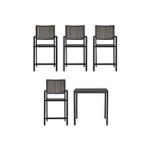 Alfresco Grey 5-Piece High Dining Set