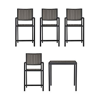 Alfresco Grey 5-Piece High Dining Set