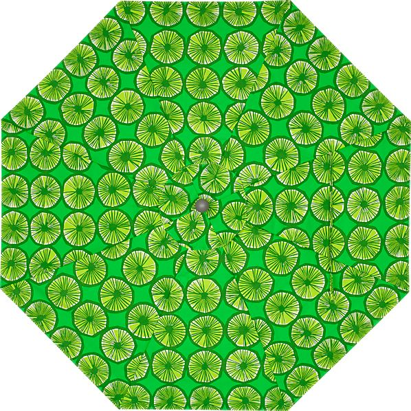 9' Round Marimekko Appelsiini Green Umbrella Cover