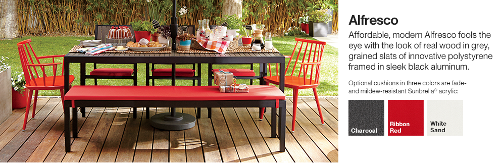 Alfresco outdoor furniture collection crate and barrel for Best rated patio furniture