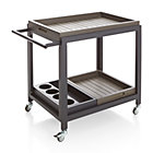 Alfresco Grey Bar Cart with Casters.
