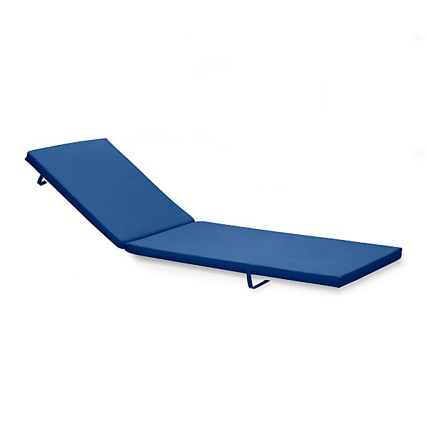Alfresco sunbrella chaise lounge cushion mediterranean for Blue chaise lounge cushions