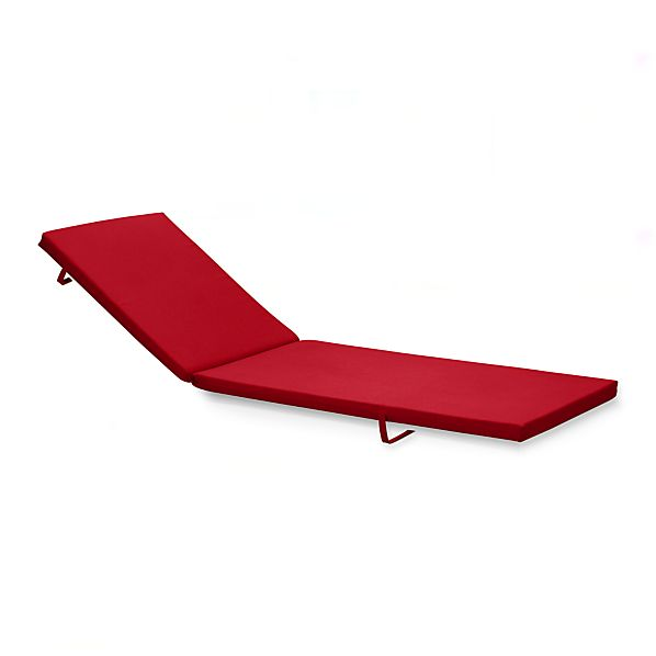 Alfresco Sunbrella® Red Ribbon Chaise Lounge Cushion