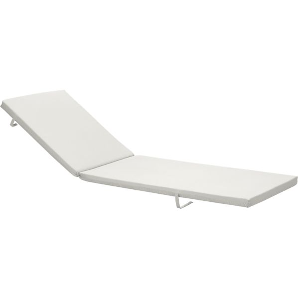 Alfresco Sunbrella® White Sand Chaise Lounge Cushion