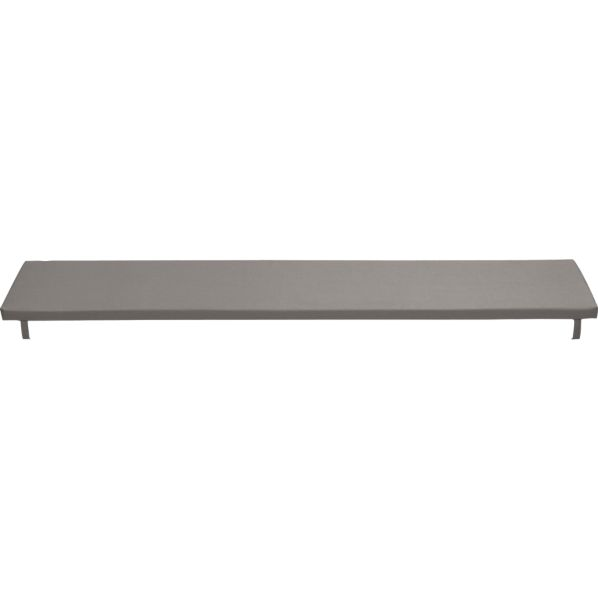 Alfresco Sunbrella® Graphite Dining Bench Cushion