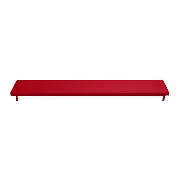Alfresco Sunbrella® Ribbon Red Dining Bench Cushion