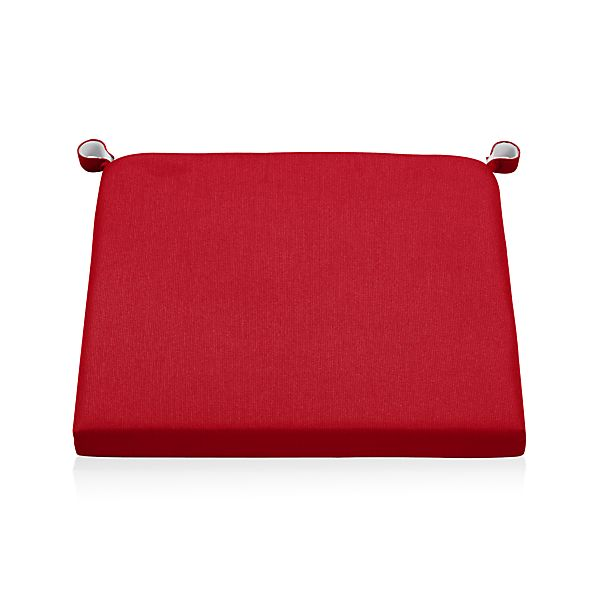 Alfresco Sunbrella® Ribbon Red Chair-Bar Stool Cushion
