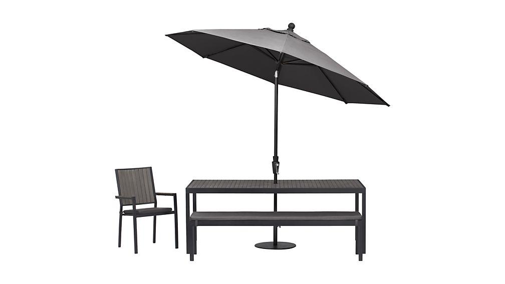 Alfresco Grey Dining Chair with Sunbrella ® Cushion