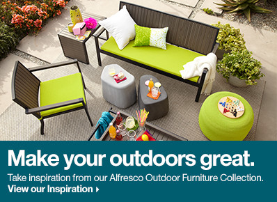 Alfresco Grey Sofa with Sunbrella® Apple Cushion