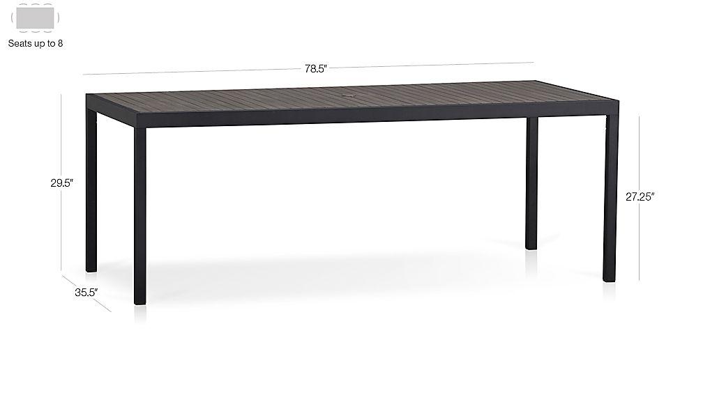 Alfresco Grey Rectangular Dining Table Dimensions