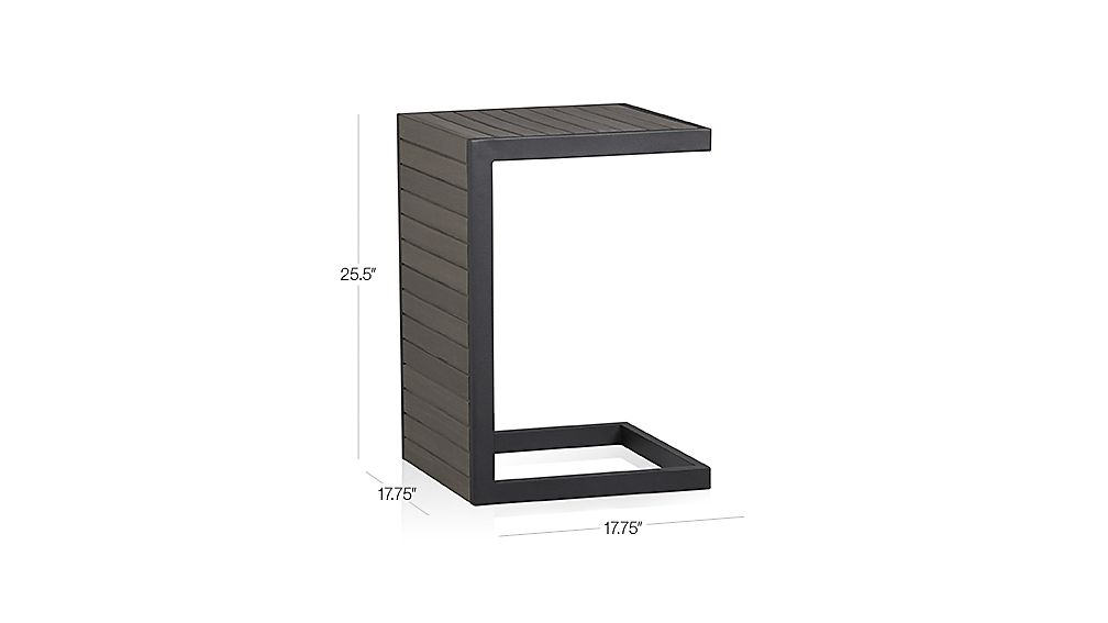 Alfresco Grey Side Table-Stool Dimensions