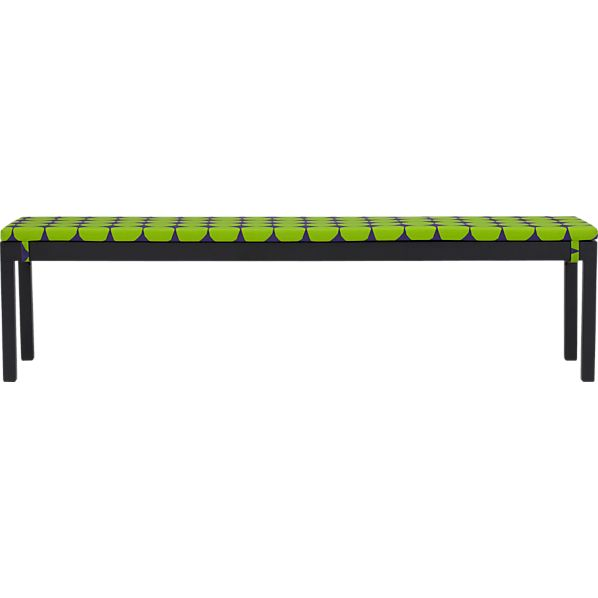 Alfresco Grey Dining Bench with Marimekko Pienet Kivet Cushion