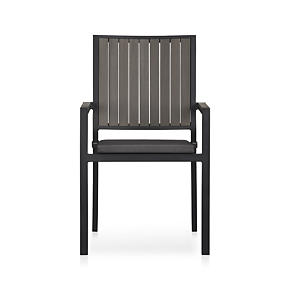 Alfresco Grey Dining Chair with Sunbrella® Charcoal Cushion