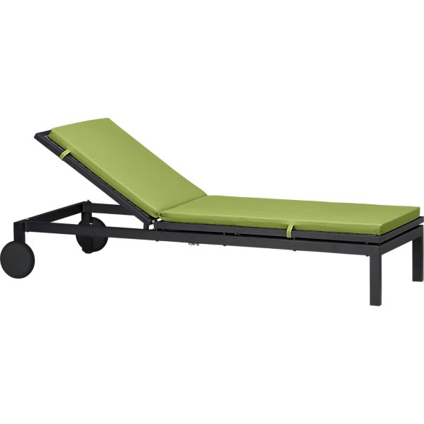 Alfresco Grey Chaise Lounge with Sunbrella® Kiwi Cushion