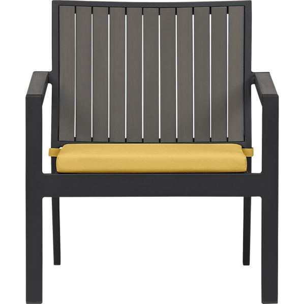 Alfresco Grey Lounge Chair with Sunbrella® Daffodil Cushion