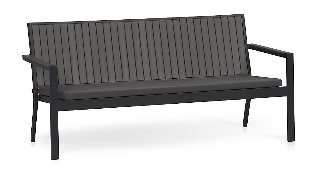 Alfresco Grey Sofa with Sunbrella ® Cushion