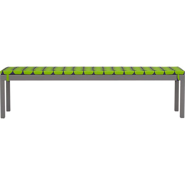 Alfresco Natural Dining Bench with Marimekko Pienet Kivet Cushion