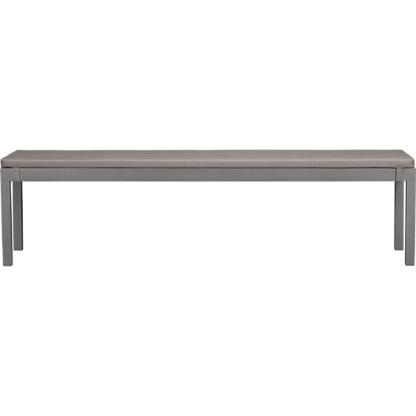 Alfresco Natural Dining Bench with Sunbrella® Graphite Cushion