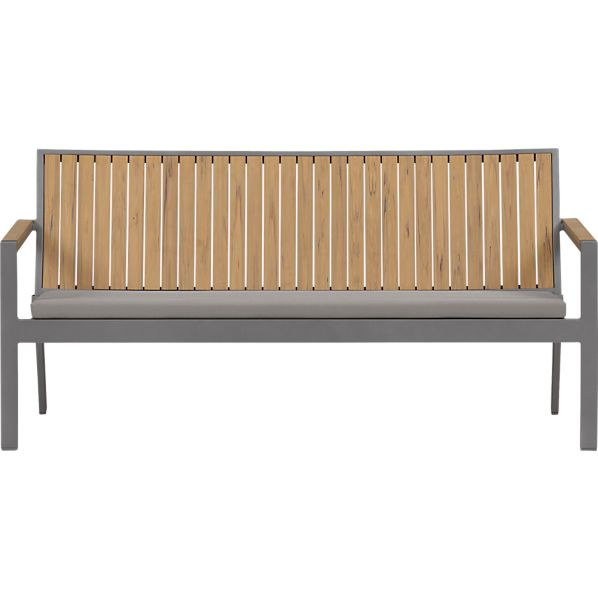 Alfresco Natural Sofa with Sunbrella® Graphite Cushion