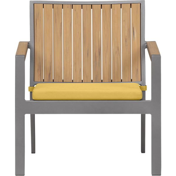 Alfresco Natural Lounge Chair with Sunbrella® Daffodil Cushion