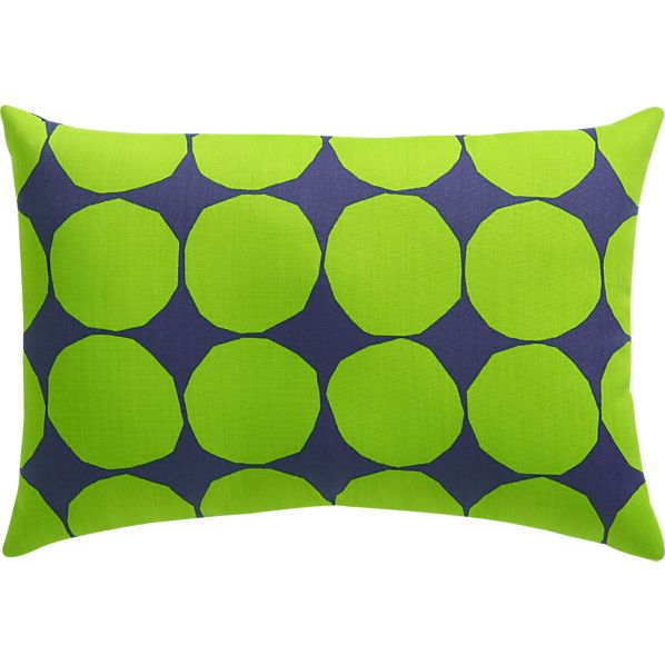 "Marimekko Pienet Kivet Blue 20""x13"" Outdoor Pillow"