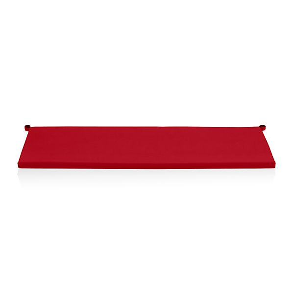 Alfresco Sunbrella ® Ribbon Red Sofa Cushion