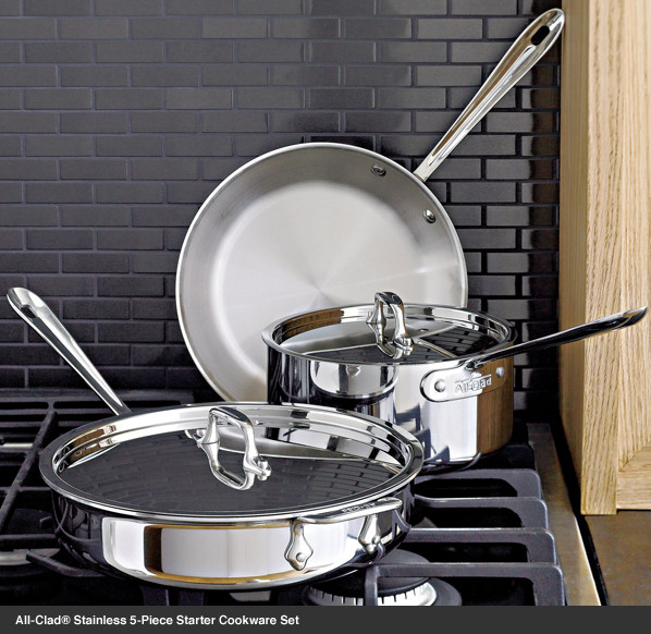 All-Clad® Stainless 5-Piece Starter Cookware Set