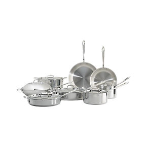 All-Clad® Stainless 14-Piece Cookware Set with Bonus