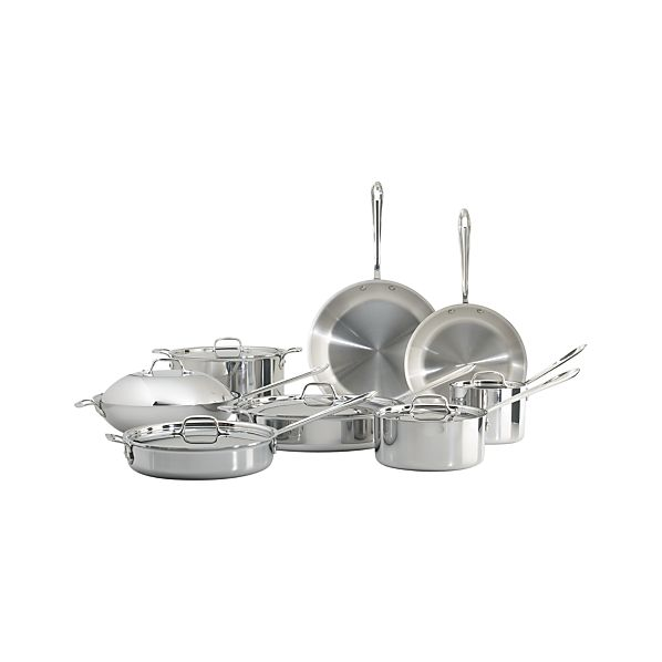 All-Clad ® Stainless 14-Piece Cookware Set with Bonus