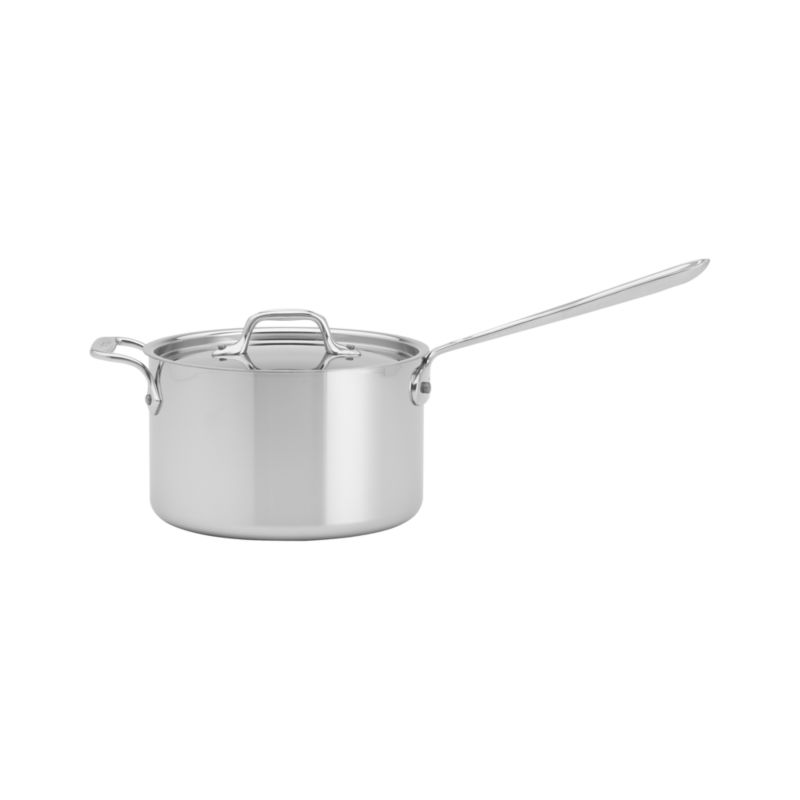All-Clad-« Stainless 4 qt. Saucepan with Lid