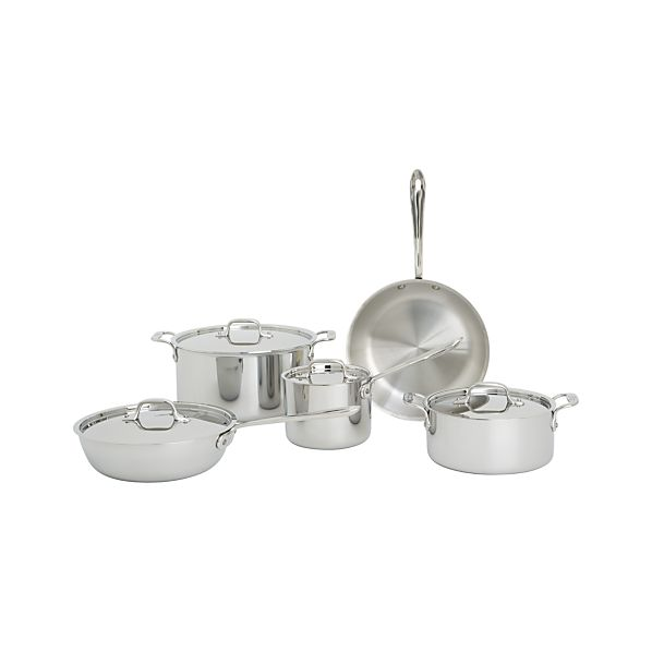 All-Clad® Stainless 9-Piece Cookware Set with Bonus