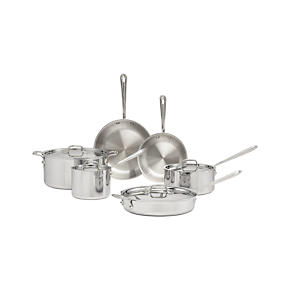 All-Clad® Stainless 10-Piece Cookware Set with Bonus