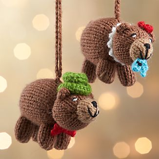 Alpaca Brown Bear Ornaments