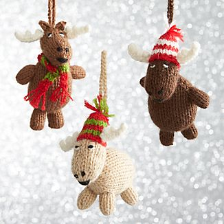 Alpaca Chubby Moose Ornaments