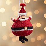 Alpaca Santa Ornament
