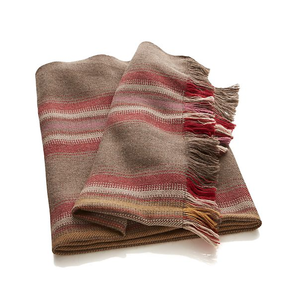 Alpaca Stripes Throw