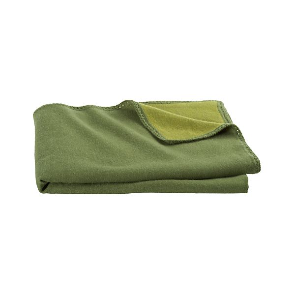 Alpaca Green Throw