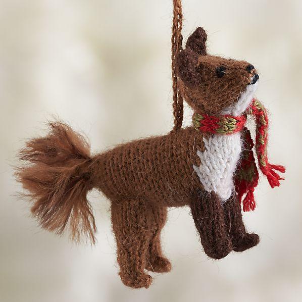 Alpaca Woodland Fox Ornament