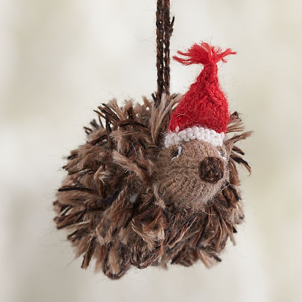 Alpaca Woodland Hedgehog Ornament