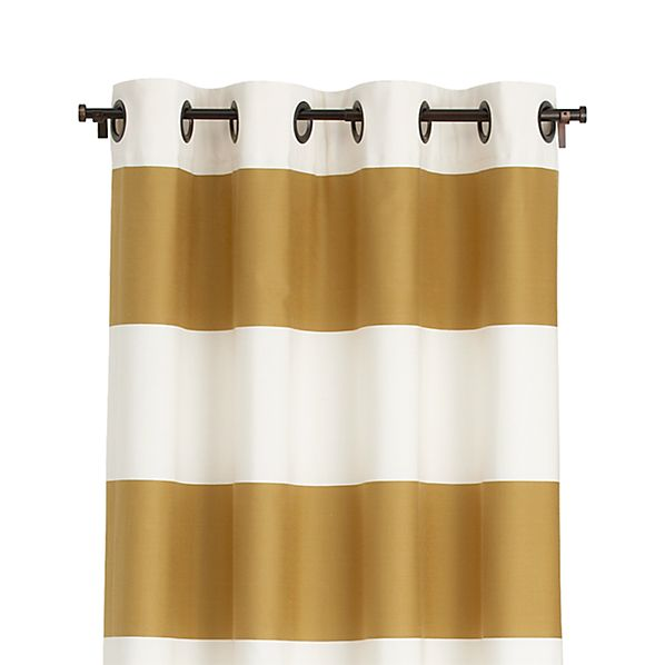 Alston Ivory/Gold 50x96 Curtain Panel