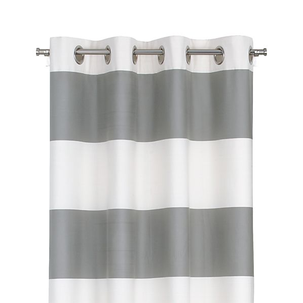 "Alston Ivory/Grey 50""x84"" Curtain Panel"