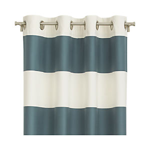 "Alston Slate 50""x84"" Curtain Panel"