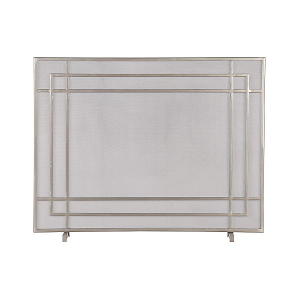 Alton II Pewter Fireplace Screen