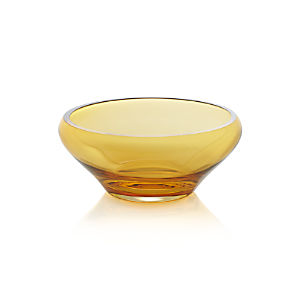 Amber Centerpiece Bowl