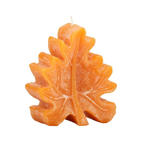 Amber Leaf Candle
