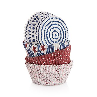 Americana Cupcake Papers Set of 100