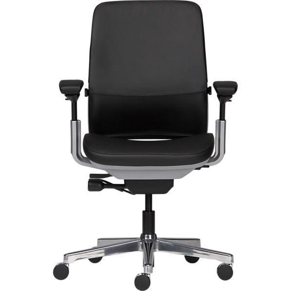 Steelcase® Amia in Design™ Black Leather Office Chair