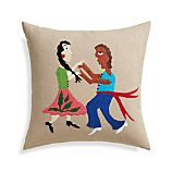 "Amor 16"" Pillow with Feather-Down Insert"