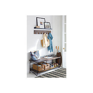 cratebarrel white small entryway benches with storage   Entryway Benches with Storage   Crate and Barrel