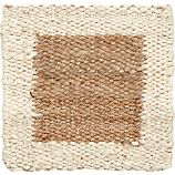 "Andhra Natural 12"" sq. Rug Swatch"